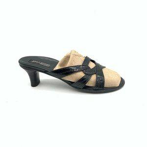 Paul Green Womens Sandals Black  Block Heels 5.5